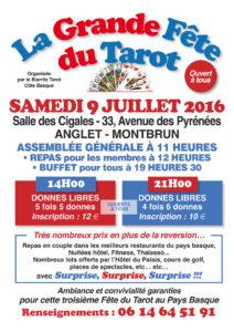 2016 - Biarritz - Fête du Tarot (Affiche)