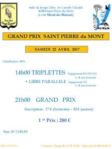 2017 - GP Saint PIERRE (Affiche)