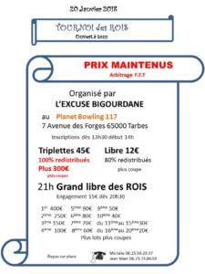 2017 - Tournoi des Rois Tarbes - (affiche)