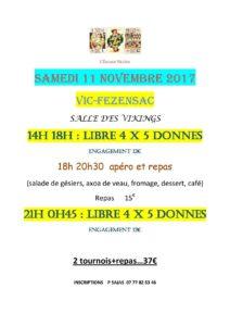 2017 - VIC - Tournois du 11 Novembre
