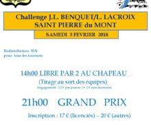 2018 – Challenge JL Benquet-L Lacroix – Affiche