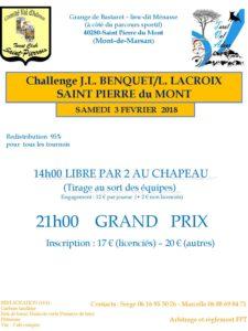 2018 - Challenge JL Benquet-L Lacroix - Affiche