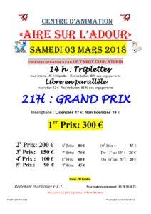 2018 - Grand Prix d'AIRE (Affiche)