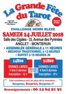 2018 - Fête du Tarot BIARRITZ (Affiche)