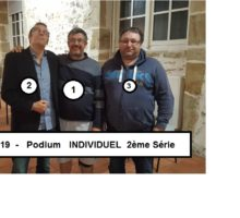 2019 – Individuel 2ème série – Photo Podium