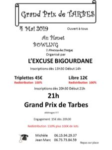 2019 - GP de Tarbes (Affiche)