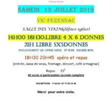 2019 – VIC – Tournois de Fin de saison – affiche
