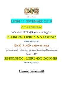 2019 - VIC - Tournois du 11 Novembre