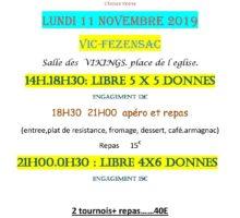 2019 – VIC – Tournois du 11 Novembre