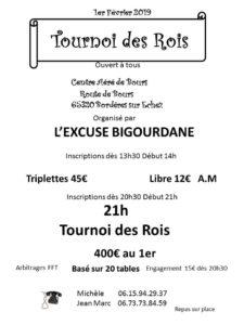 2020 - Tournoi des Rois - Tarbes - (Affiche)