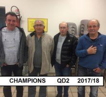 2017 – Vainqueurs QD2