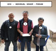 2019 – Individuel Senior – Photo podium –